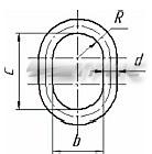 Звено овальное типа ОВ1, по РД 10-33-93 (схема)