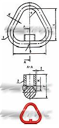 Звено неразъемное типа Т, по РД 10-33-95 (схема)