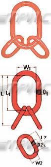 Звено овальное с дополнительными кольцами для трех и четырех ветвевых строп (изображение)