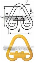 Звено треугольное разъемное РТ1, по РД 10-33-93 (схема)