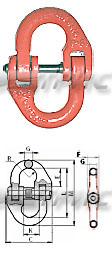 Звено соединительное для цепи класса 8 (схема)