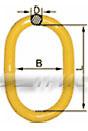 Звено грузоподъемное для одного и двух ветвевых строп (класс 8 DIN 5688) (фото)